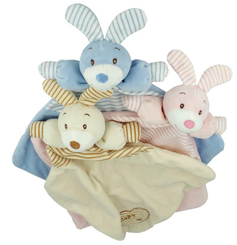 Little Cuddly, przytulanka z grzechotką - zającem lub z misiem, różne kolory