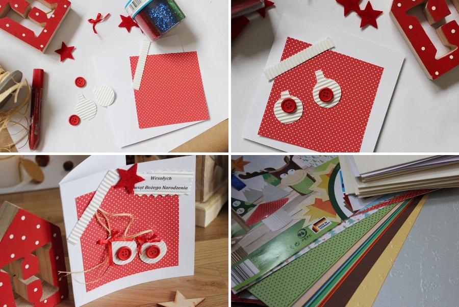 Kartki świąteczne Boże Narodzenie z przedszkolakiem DIY