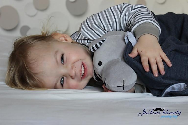 Miś Whisbear bezpieczna zabawka dla niemowlaka