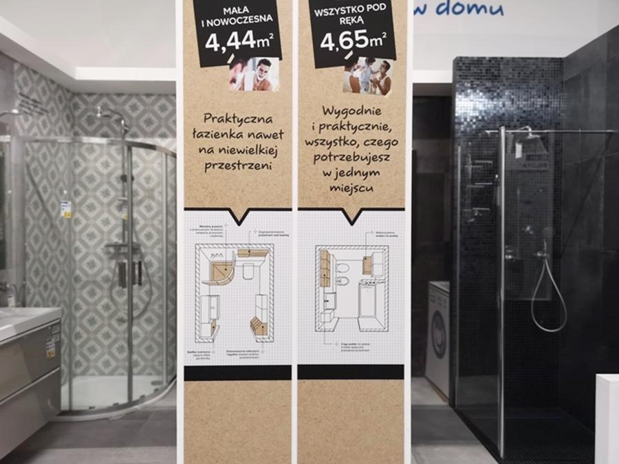 araznżacja i plan małej łazienki