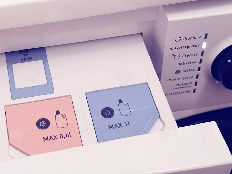 Uzupełnianie detergentu płynnego w pralkach Amica
