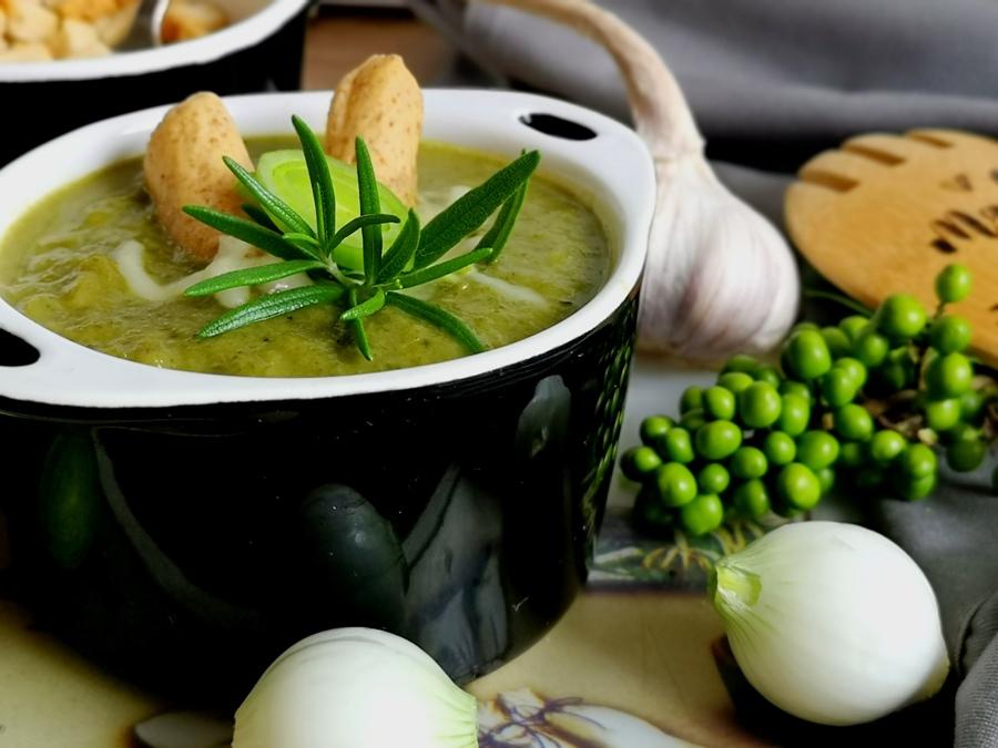 Duńska zupa krem porowy