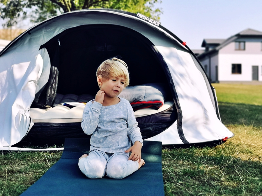 Pierwsza noc z dzieckiem pod namiotem