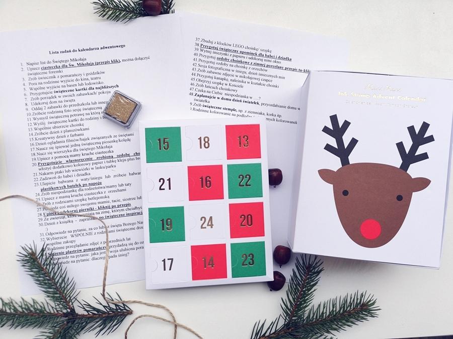 Zadania do kalendarza adwentowego dla całej rodziny z Meri Meri - Kalendarz Adwentowy Stemple