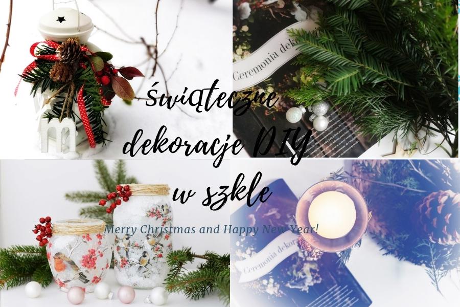 świąteczne dekoracje w szkle