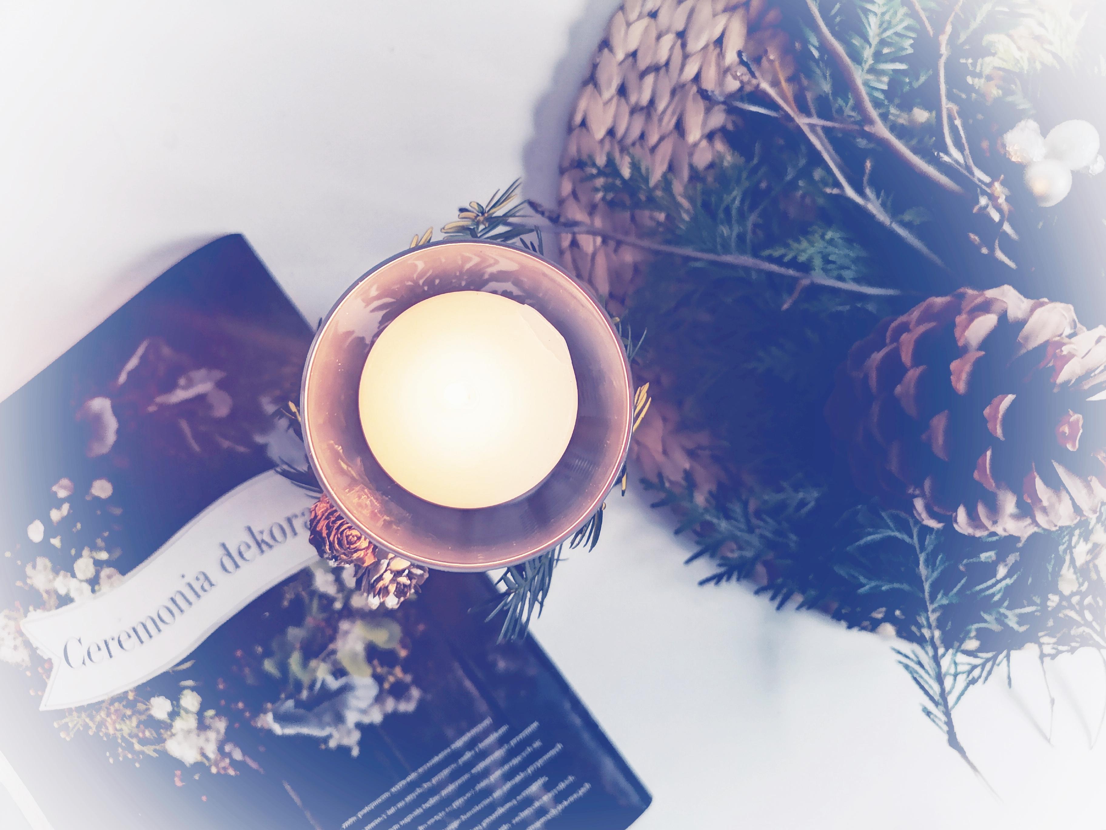 świecznik na świąteczny stół