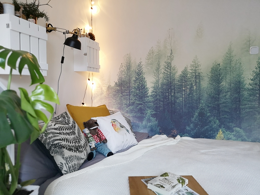 Fototapeta w sypialni