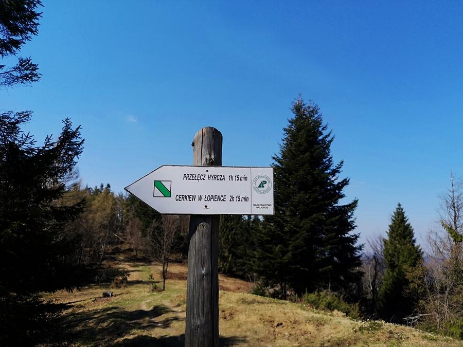szlak turystyczny na Korbanię (894m n.p.m)