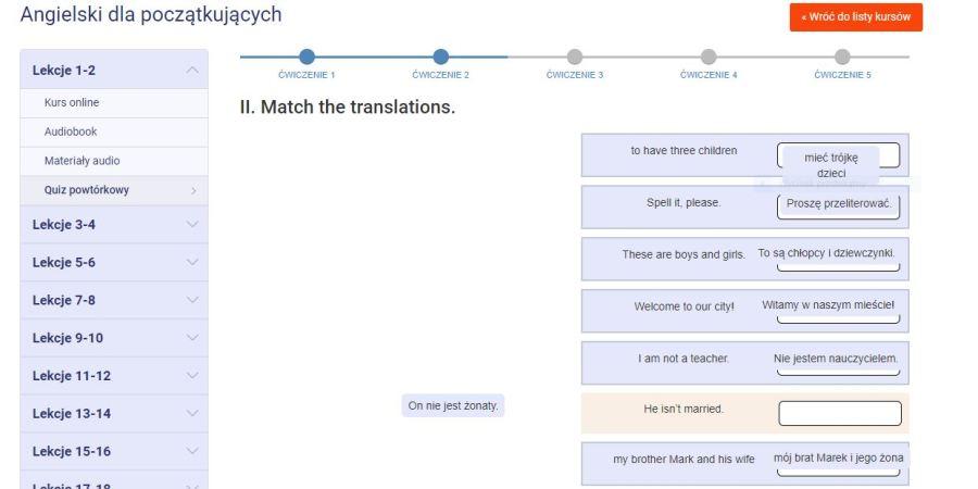 Bardzo ciekawą opcją doskonalenia języka angielskiego