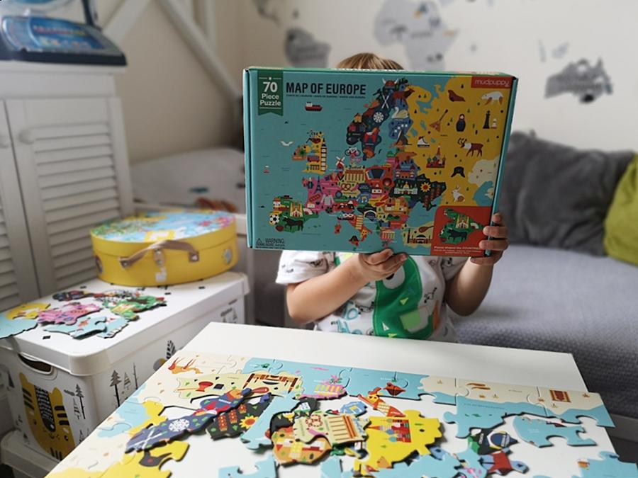 Zestaw edukacyjnych puzzli Mapa Europy - Mudpuppy