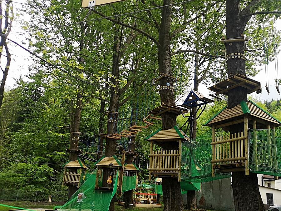 Atrakcje turystyczne w Szczyrku Park linowt