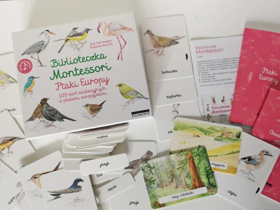 """Biblioteczka Montessori: Ptaki Europy"" Eve Herrmann, Roberta Rocchi"