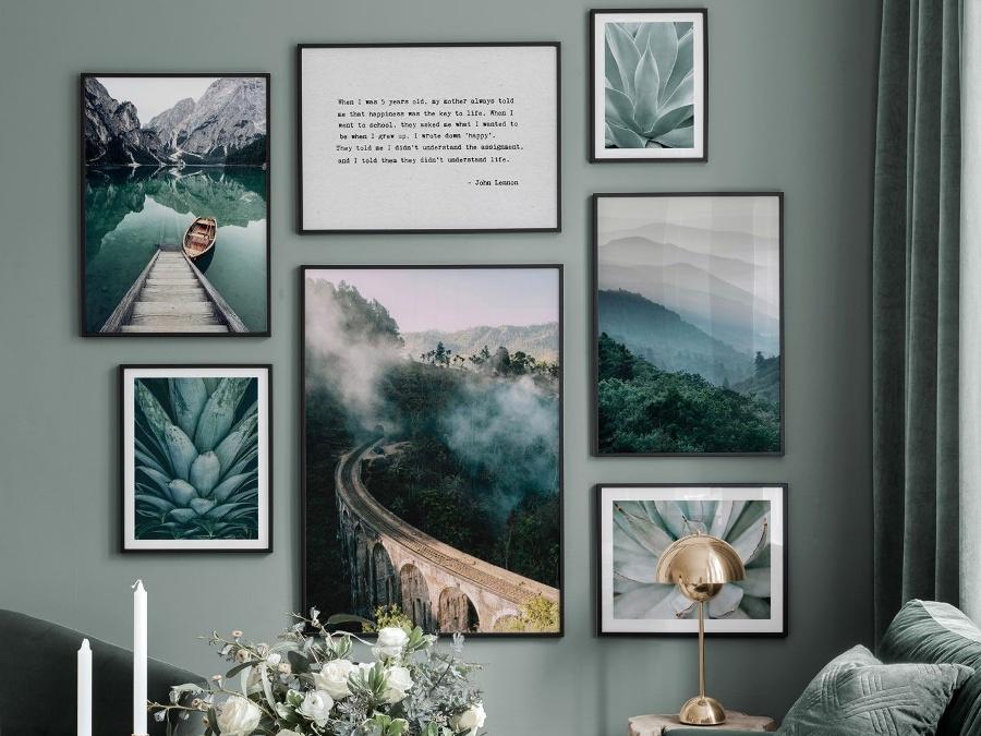 Galeria ścienna w stylu skandynawskim Poster Store