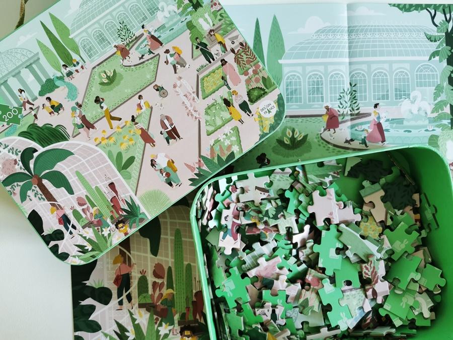 Janod - Puzzle w walizce Ogród Botaniczny