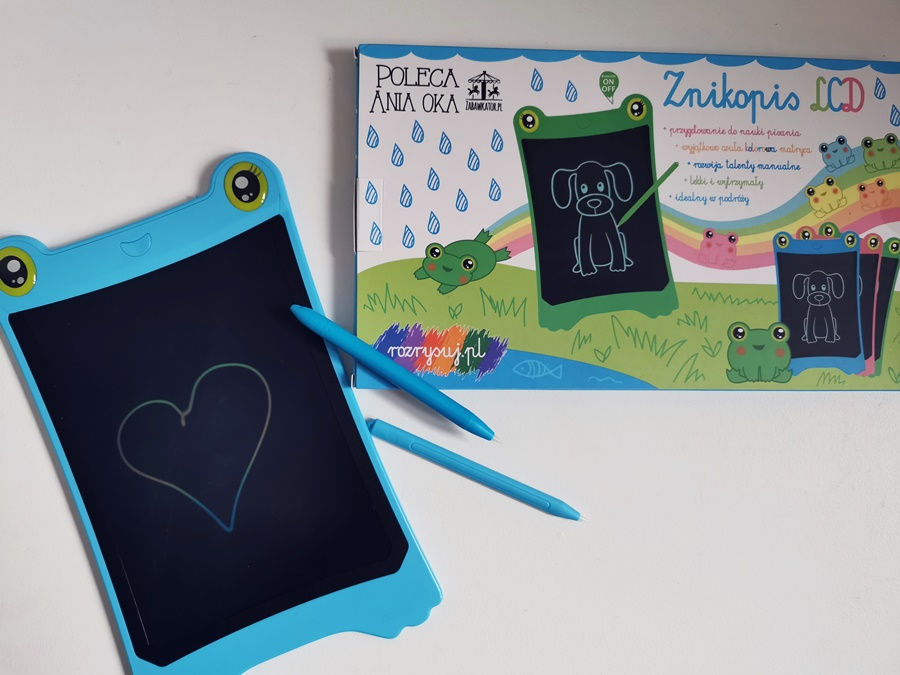 Znikopis Tablet Kolorowy LCD - Niebieska Żabka – Prawdziwy HIT