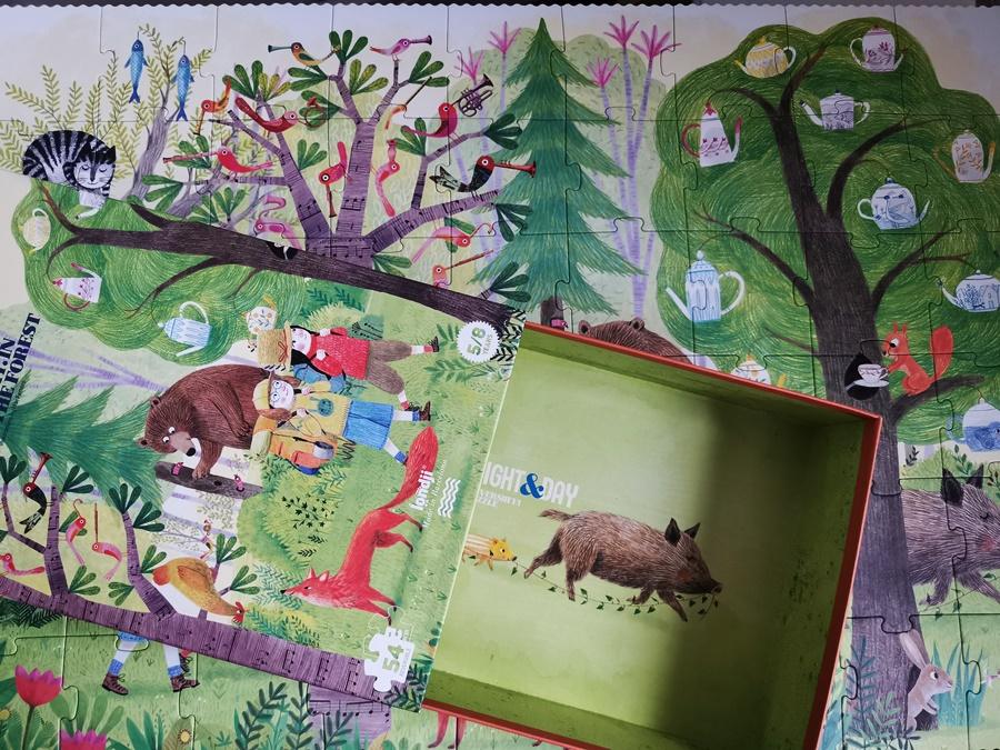 Dwustronne puzzle Londji - Dzień i Noc dla 5 latka